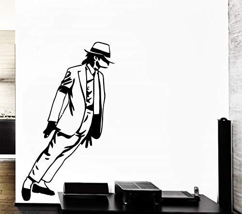 Sänger Tänzerin Legende Wohnzimmer Lobby Büro Vinyl Musik Wandtattoo Trend Dekoration Aufkleber Schlafzimmer 57 * 98 cm ()