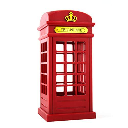 TwoCC Retro London Telefonzelle Nachtlicht Touc Sensor USB Led Nachttischlampe