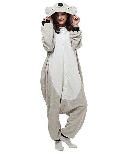 Kigurumi Koala Pyjama Schlafanzug Erwachsene Unisex Mann Dame Cosplay Jumpsuit Onesie M (Damen Kostüm Koala)