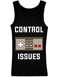 Finest Prints Control Issues Gaming Pad Design Camiseta sin Mangas para Mujer