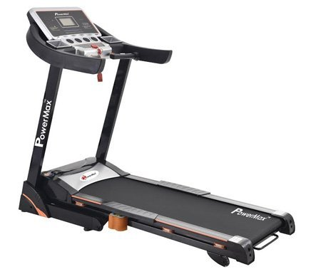 Powermax Fitness TAC-325 2HP (4HP peak) Semi Commercial Motorized AC Treadmill with Auto-Inclination (Warranty: Motor-3 yrs; Other parts-1yr; Frame:Lifetime)