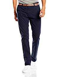 TOM TAILOR Denim Herren Chino Hose solid skinny with belt/507