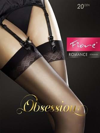 Fiore Stockings Romance black, M