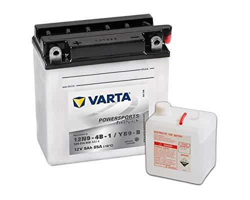 Preisvergleich Produktbild Batterie VARTA Powersports Freshpack YB9-B / 12N9-4B-1 für APRILIA Tuareg Wind (23 kW) 350ccm 88-94 [ inkl.7.50 EUR Batteriepfand ]