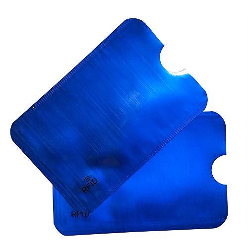 WKMKMHPY 5 PC RFID, das Leser-Verschluss-Scheckkartenhalter Identifikation-Scheckkarten-Kasten-Kreditkarte-Halter blockiert