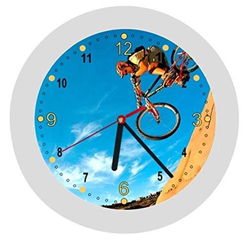 ✿ Kinderwanduhr in 4 Farben ✿ Radsport cycling 1 Verein ✿ Wanduhr ✿ Kinderuhr ✿ LAUTLOS ✿ mit/ohne Name