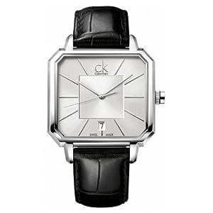 Reloj de caballero Calvin Klein 120 de cuarzo, correa de piel color negro de Calvin Klein