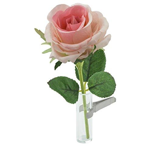 Sandini Autovase für künstliche Blume, eine kultige Dekoration für den Innenraum, große Auswahl, inkl. Beutel mit Organza,kann auch für eine natürliche Blume verwendet werden, geeignet für jedes Fahrzeug, das beste Geschenk für Valentinstag, Muttertag, Geburtstag, Abschluss usw. Rose Rosa