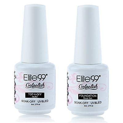 Elite99 Gelpolish Soak Off UV LED Gel Nail Polish Lacquer 8ml Clear (Top Base Coat)