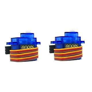2 Stücke MoPei SG90 Servo 9G Micro Servo Motor für RC Roboter Hubschrauber Flugzeug Boot Controls