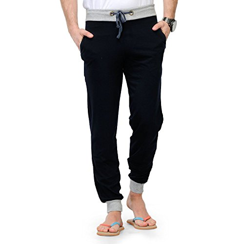 Style Shell Navy Men's Cotton Cuff Track Pants (Medium)(1968071031)