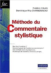 Méthode du commentaire stylistique