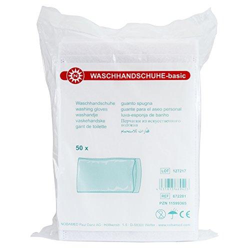 50 NOBA Waschhandschuhe-basic Vliesstoff Weiß -