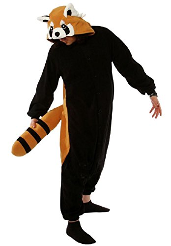 Anbelarui Waschbär Jumpsuit Tier Cartoon Fasching Kostüm Sleepsuit Cosplay Fleece-Overall Pyjama Schlafanzug Erwachsene Unisex Tier ( (Waschbär Für Erwachsene Kostüme)
