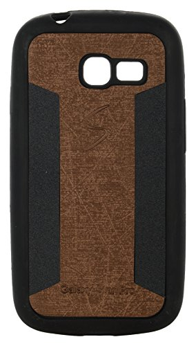 iCandy™ 2 Color Soft Lather Finish Back Cover For Samsung Galaxy Star Pro S7260 /S7262 - Golden  available at amazon for Rs.115