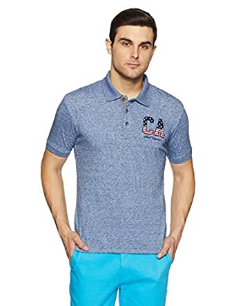 Amazon Brand - Symbol Men's Solid Regular fit Short Sleeve Polo