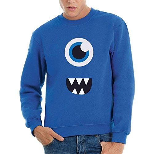 Sweatshirt Face Monster Surprise - LUSTIG by Mush Dress Your Style - Herren-M-Blau
