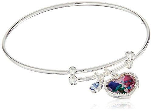 trolls-dreamworks-poppy-and-branch-silver-plated-childrens-charm-bangle-bracelet