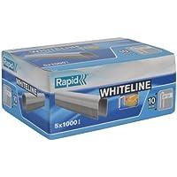 Rapid - Graffette 28 x 10 mm, confezione da 5.000, colore: Bianco