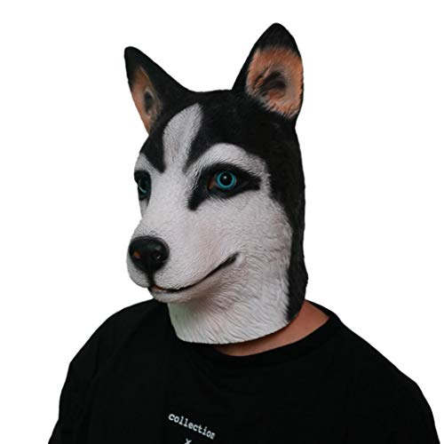 Huhu833 Halloween Maske, Neuheit Fantastische Husky Kostüm Party Dekoration Latex Mark Halloween-Maske (Husky Kostüm)