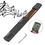 YZNLife - Guitarra de bolsillo para principiantes, herramienta portátil con pantalla giratoria de 6 trastes