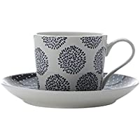 Maxwell e Williams Stampa Indigo Teacup e piattino