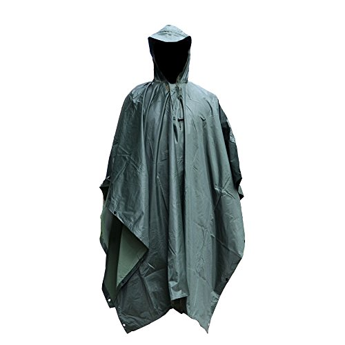 us-army-military-raincoat-waterproof-ripstop-hooded-nylon-festival-poncho-olive-green