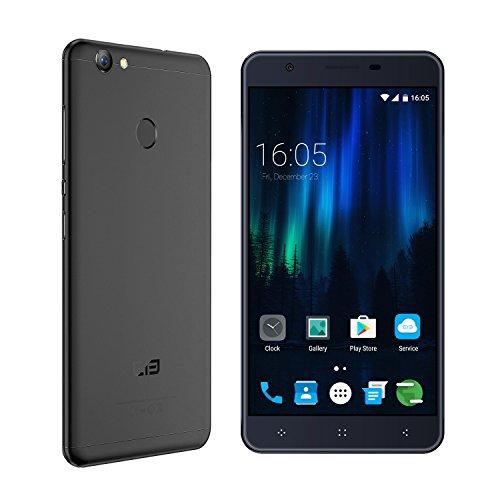 Elephone C1X – 4G LTE Smartphone 5.5 pollici 2GB 16GB, Android 6.0 Quad-core, Schermo HD 2.5D, Metal Case Smartphone con impronte Digitali – Nero