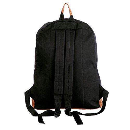 Unisex Rucksack Backpack Daypack Schulrucksack Handgepäck Schule Laptop Tasche blau mit Sterne Schwarz