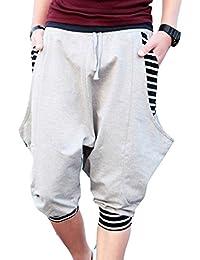 Yying Pantalon jogging corto para Hombre - Bermudas Pantalones cortos con cordón cráneo Elástica Pantalón de Chándal con Bolsillos… EeMqMC