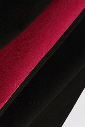 Babyonlinedress Femme Rétro Robe de Soirée/Bal/Cocktail Courte Vintage année 40/50 avec des Manches 1/2 avec Nœud de Papillon en Coton Noir