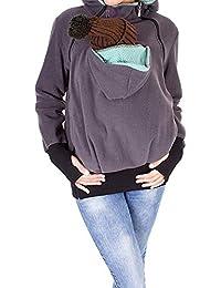 2 In1 Porte Bébé Femmes Bébé Mode Marca De Et Chaud Pull Maman Kangourou  Portant Fonction Sweat Shirts Pull À… fd11c8a0159