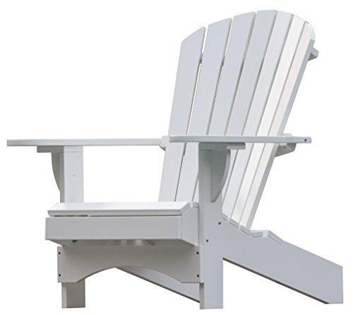 """Adirondack Chair """"Comfort"""" de luxe in weiß"""
