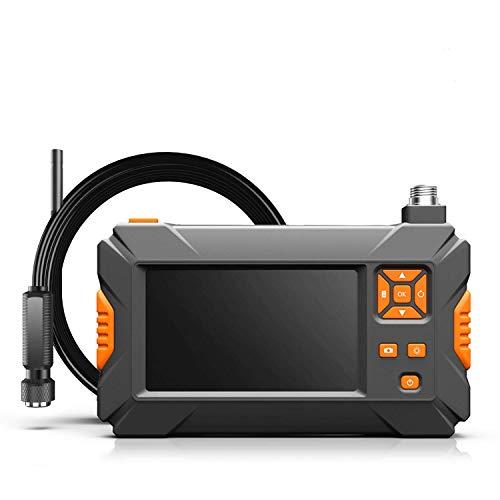ILIHOME Endoskopkamera 4.3 Zoll Bildschirm Professionel Endoskope, 5 Meter halbsteif Kabel 8LEDs 1080P Wasserdicht Linse Inspektionskamera mit 2600mAh Standard 18650 Akku, Externes LED-Fülllicht