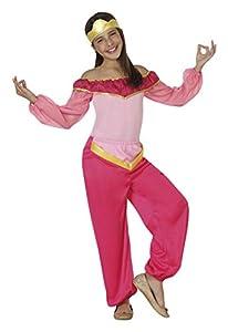 Atosa-26411 Princesa Disfraz Árabe, Color rosa, 7 a 9 años (26411