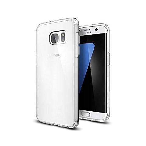 Coque Galaxy S7 Edge, Spigen [Ultra Hybrid] AIR CUSHION [Crystal Clear] Clear back panel + TPU bumper, Coque Samsung Galaxy S7 Edge (2016) - (556CS20034)