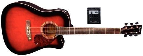 Tenson F501322 Akustikgitarre D10-CE, Cutaway Elektro-Acoustic