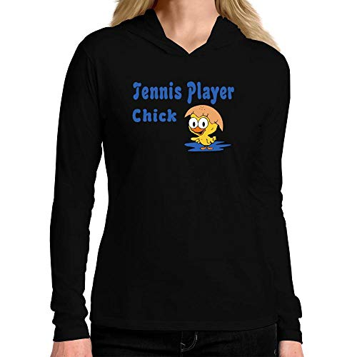 Idakoos Tennis Player Chick Damen Kapuze Langarm T-Shirt M -