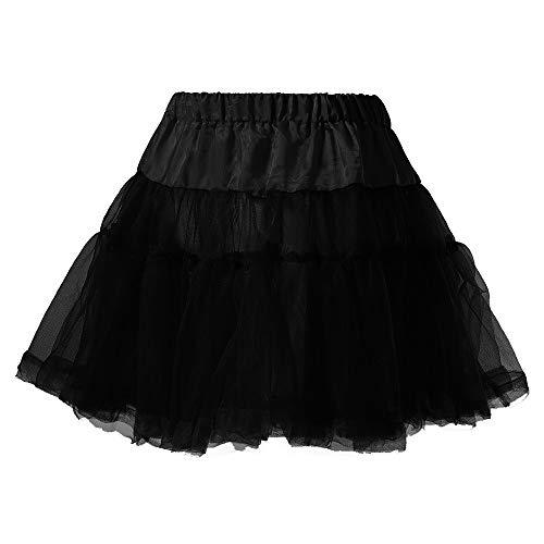 NPRADLA Einfarbig Mini A-line Rock Damen Frauen, Qualitäts gefalteter Gaze kurzer Erwachsener Tutu Tanzen Kleider