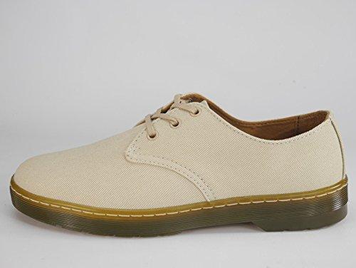 Dr. Martens Delray Twill Beige Marron clair sur toile Chaussures de DM Sable