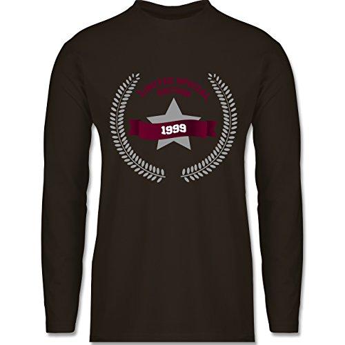 Shirtracer Geburtstag - 1999 Limited Special Edition - Herren Langarmshirt Braun