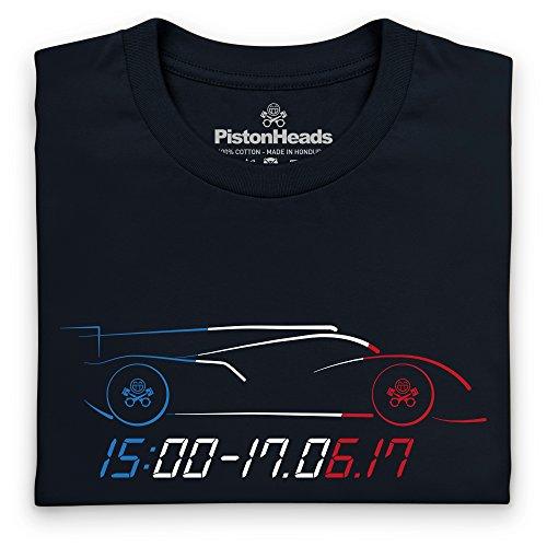 PistonHeads PHLM17 Starting Time Langarmshirt, Herren Schwarz