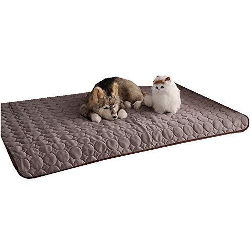 Sticker superb Rosa Blau Grau Haustier Kühlung Matte, Hund Katze Kühle Matte Pad Bett Matratze Hitze Relief, Sommer Schlafen Bett zum Klein Mittel Hund Katze (62X50cm, Grau) -