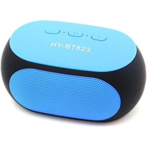 Transer® Moda Bt823 Super Bass Portable Wireless Bluetooth manos libres altavoz para iPhone (Azul)