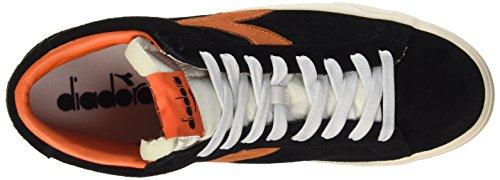 Diadora Unisex-Erwachsene Tennis 270 S H Sneaker Schwarz - Noir/Arancio Scuro