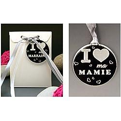 Boite de Chocolat I ♥ ma Mamie - Cadeau Baptême, Noël...