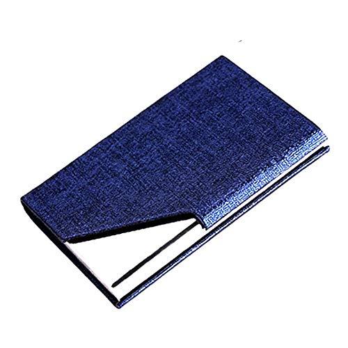 [Nombre del producto] Caja de acero inoxidable para tarjeta de piel [material del producto] acero inoxidable + PU [tamaño de especificación] 98 x 65 x 13 mm Capacidad: puede almacenar 20 tarjetas de visita