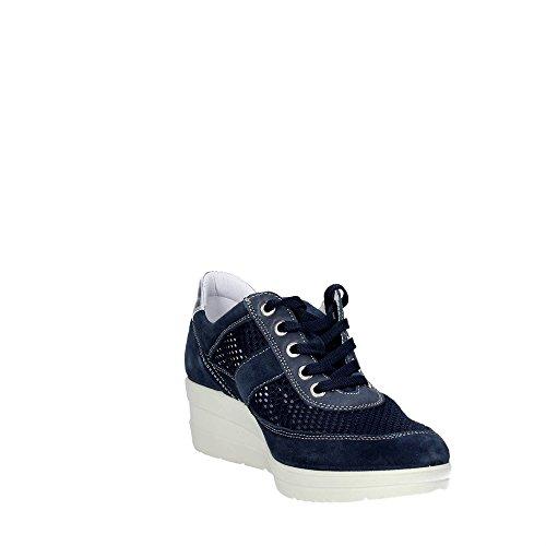 Cinzia Soft 111077 32415 Sneakers Femme Suède/nylon Bleu Bleu