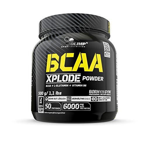Olimp BCAA Xplode Powder - Fruit Punch Geschmack - 500 g - Aminosäuren-Pulver mit L-Glutamin und Vitamin B6 - 50 Portionen