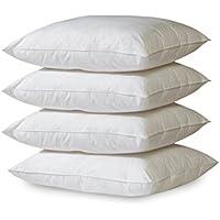 Or étoile 4x Polyester Coussin Lavable à 30°   Blanc   coutil de remplissage pour oreillers, canapé, coussin décoratif, Non-tissé, Weiß, 40 x 40 cm